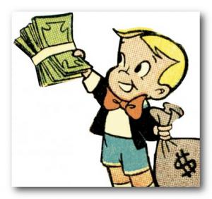 мальчик с мешком денег