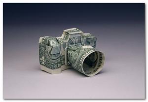 фотоаппарат из денег