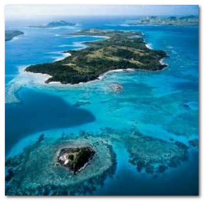 Fidji kyrort Turtle Island