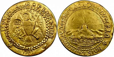 золотой дублон 1787