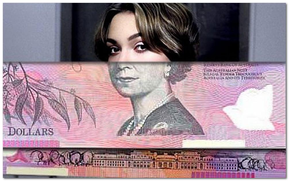 Kira Naitli i 5-dollarovaia banknota Avstralii