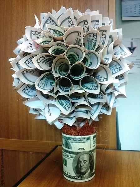 Как сделать дерево из денег своими руками фото