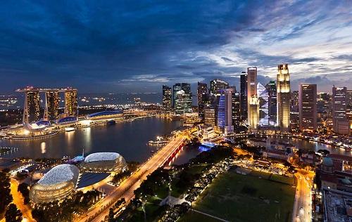 город сингапура