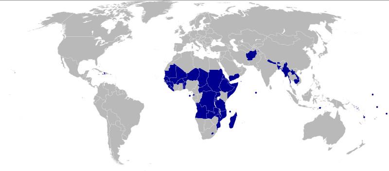 страны со статусом НРС
