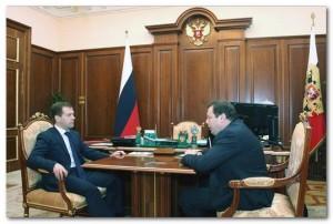 Михаил Фридман на встрече с Дмитрием Медведевым