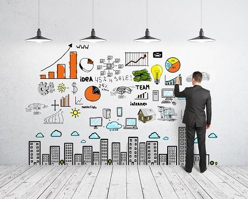 бизнес идеи на стене