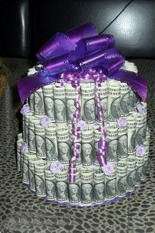 готовый торт из денег