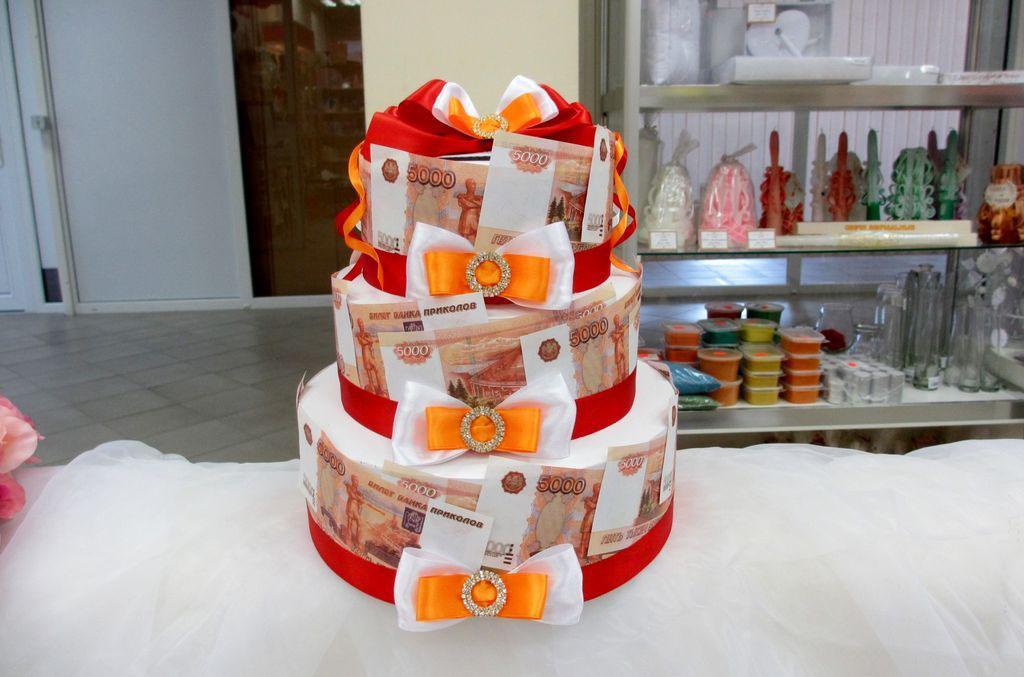 торт из денежных купюр
