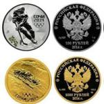 Олимпийские монеты Сочи-2014