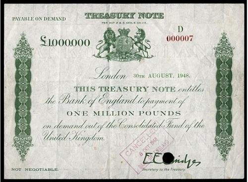 1 миллион фунтов стерлингов 1948