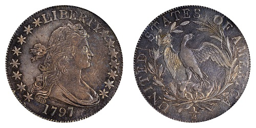 draped bust монета