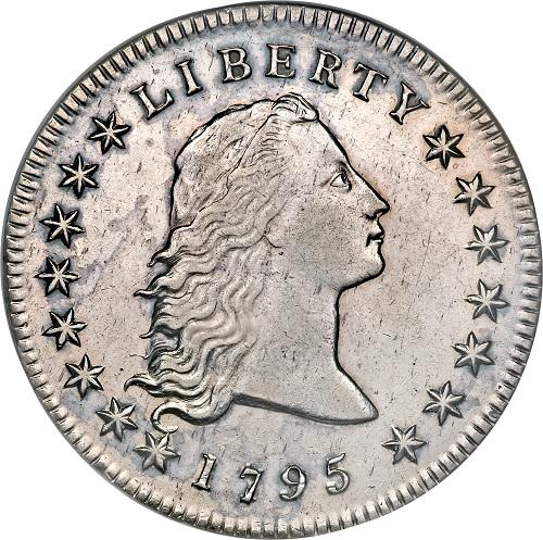 монета серии flowing hair