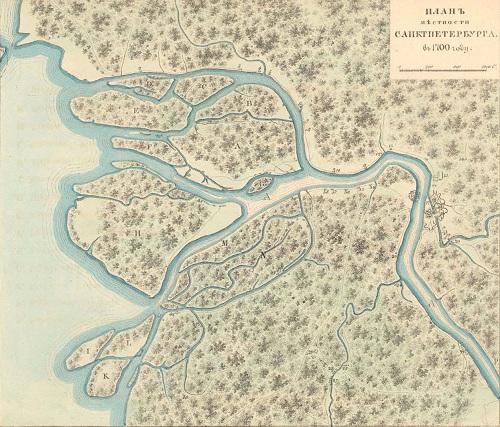 старая карта Санкт Петербурга