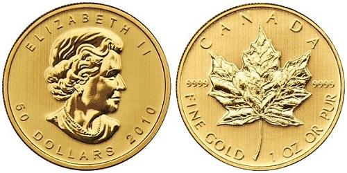 монета кленовый лист