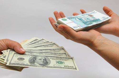 обмен рубли доллары