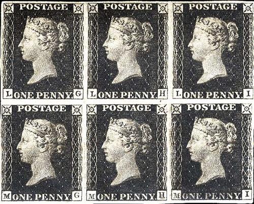 марки 1840 год