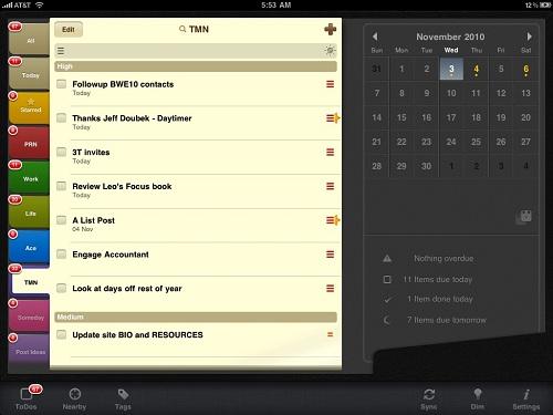2Do iPad приложение