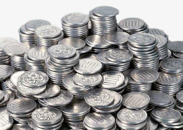 много серебряных монет