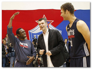 владелец баскетбольного клуба НБА Михаил Прохоров