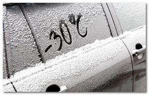 стекло машины зимой