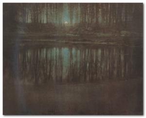 Озеро в лунном свете