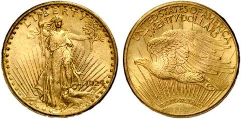 двойной орел 1924 год