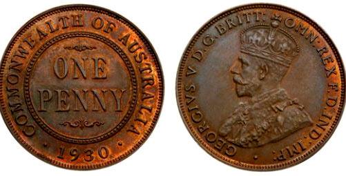 австралийский пенни 1930