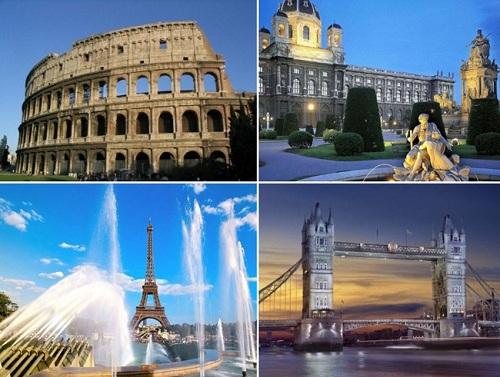 достопримечательности в европе