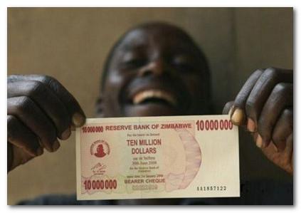 10 миллионов долларов Зимбабве