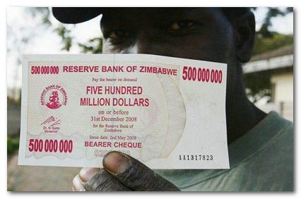 500 миллионов долларов Зимбабве фото