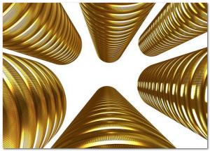 ребристые монеты