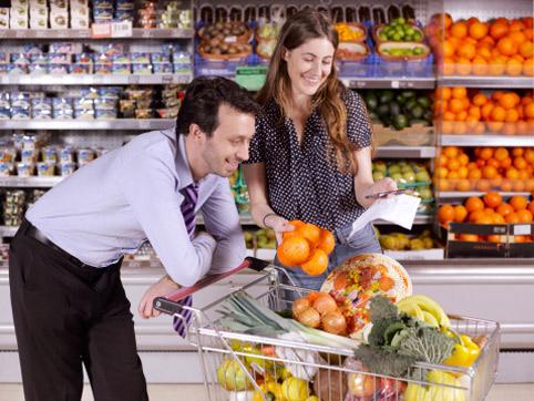 покупка товаров в продуктовом магазине