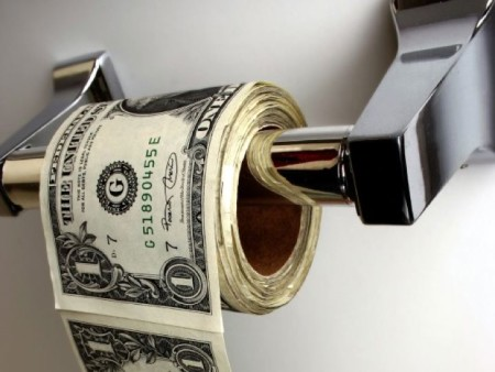 деньги на трубке