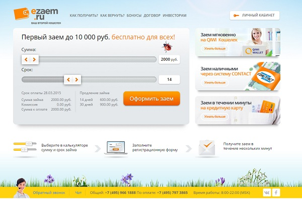 Займ на карту 10000 руб