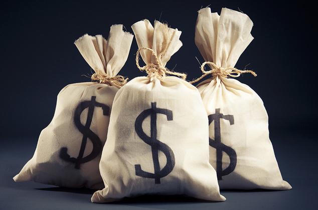 деньги в мешках
