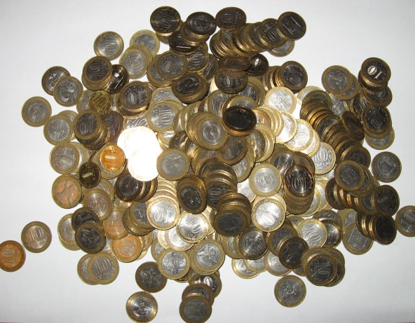 монеты по 10 рублей