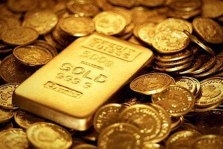 золото слиток и монеты
