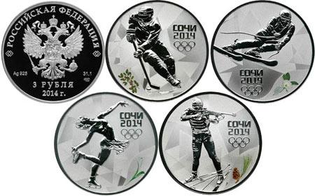 монеты виды спорта