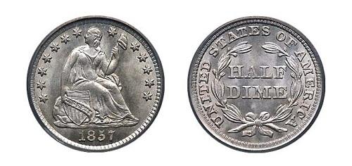 монета сша 5 центов