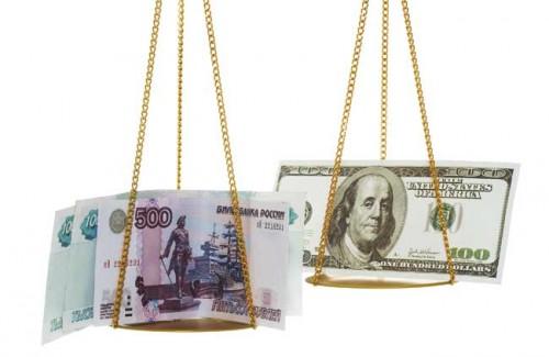 Доллары и рубли на весах