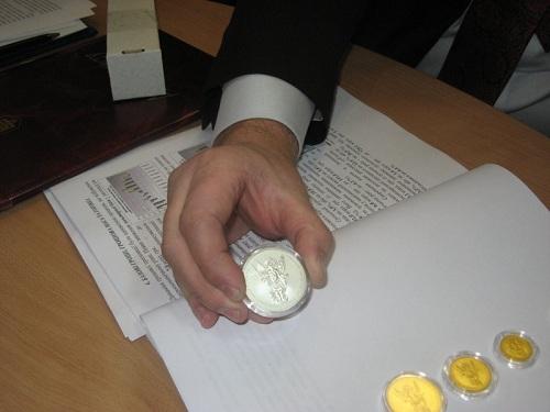Монеты из золота и серебра
