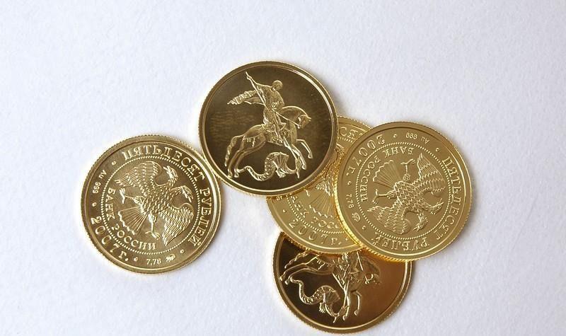 золотые монеты Георгий Победоносец