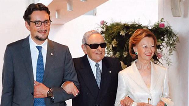 Мария Франко Фиссоло с супругом и сыном