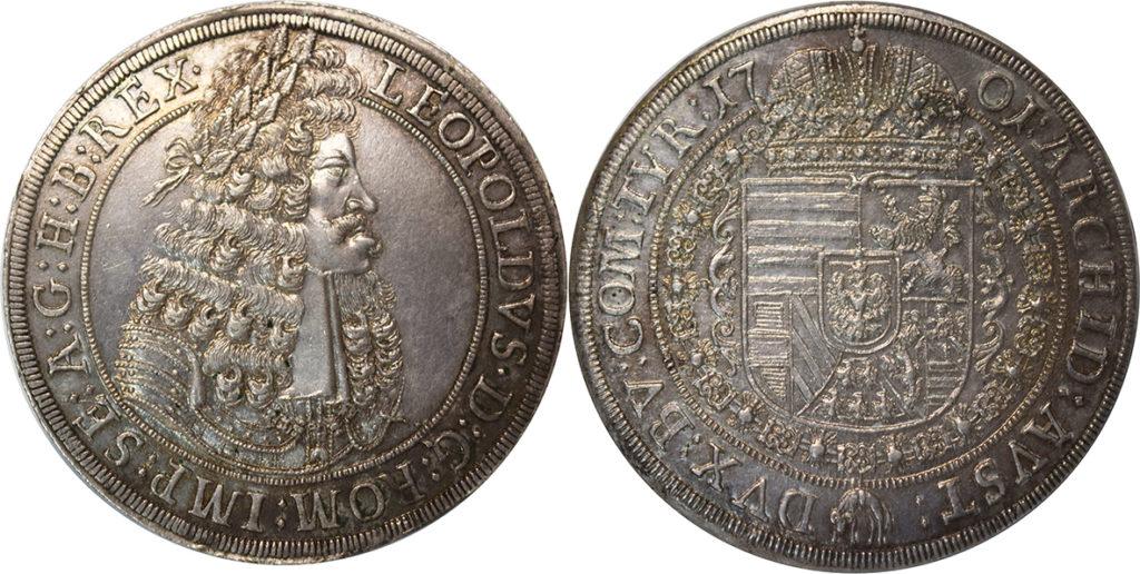 Монета талер 1701 года выпуска