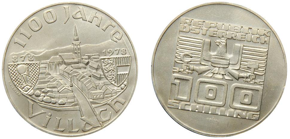 монета 1100 лет празднует город Филлах