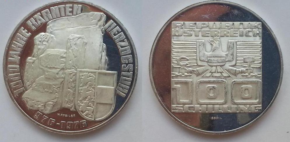 монета в честь 1000 лет Каринтии