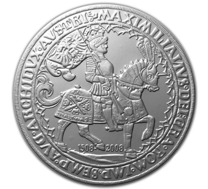 монета Австрии в честь Чемпионата Европы по футболу