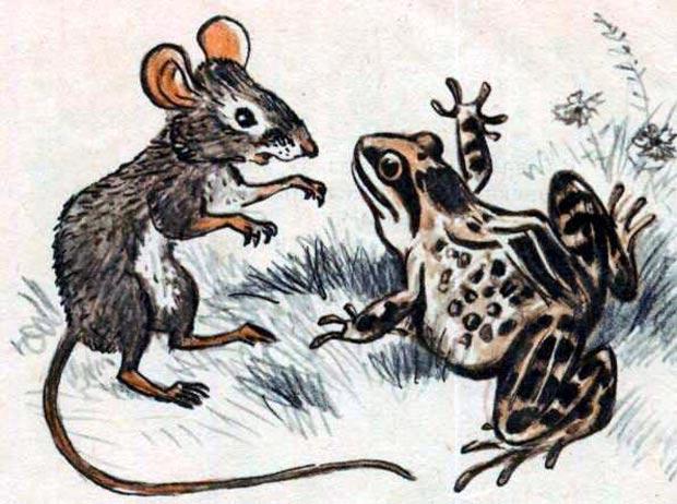 Мышь и лягушка